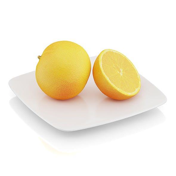 Halved orange - 3DOcean Item for Sale