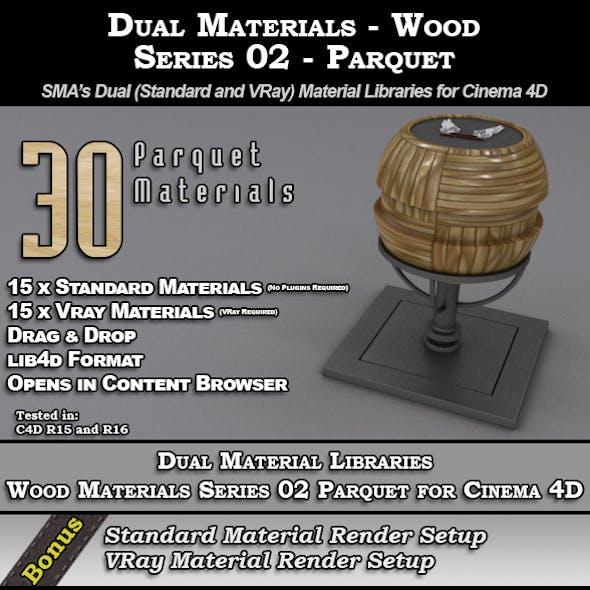SMA's Dual Material Pack - Wood-S02 - Parquet C4D