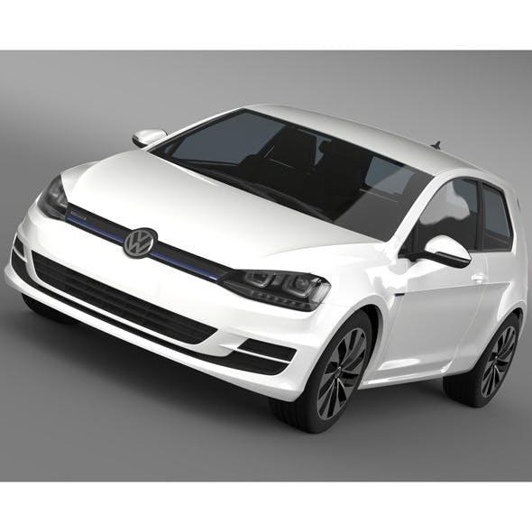 VW Golf TDI BlueMotion 3 door 2015
