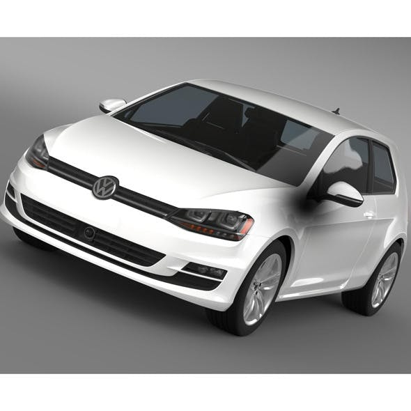 VW Golf TSI BlueMotion 3door 2015 - 3DOcean Item for Sale
