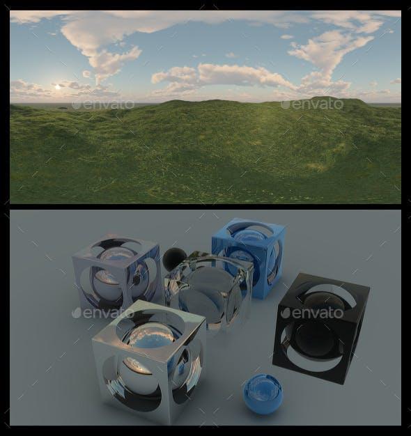 Grass Field Dawn HDRI - 3DOcean Item for Sale