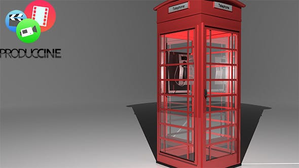 London Telephone Booth - 3DOcean Item for Sale