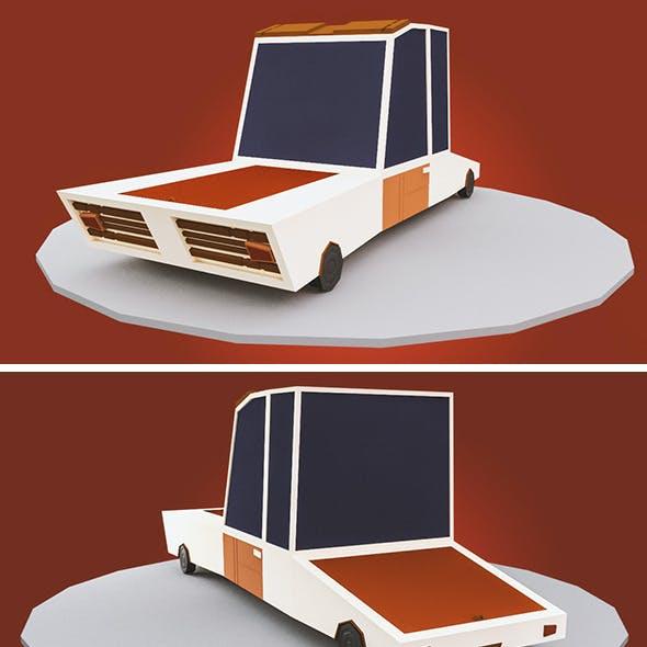 low poly cartoon car
