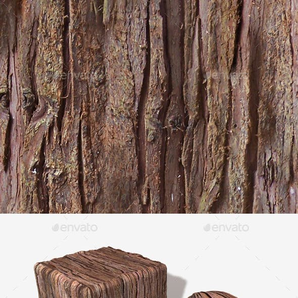 Red Tree Bark Seamless Texture