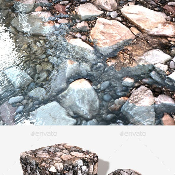 Ground Rocks Seamless Texture