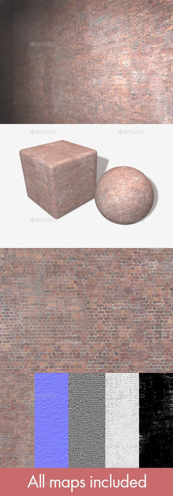 Tiny Brick Building Seamless Texture - 3DOcean Item for Sale