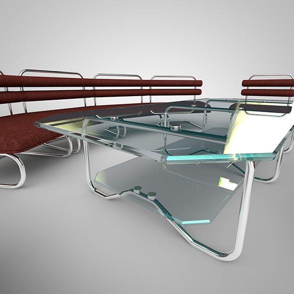 sofa, chair, table