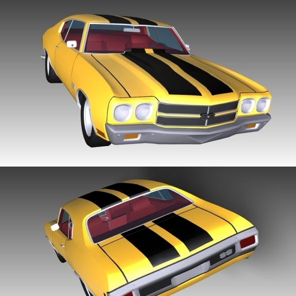 Low Poly Chevrolet Chevelle