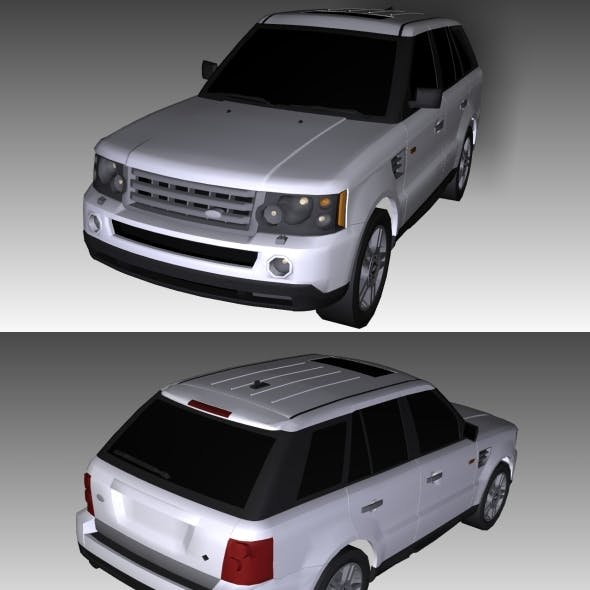 Low Poly Range Rover