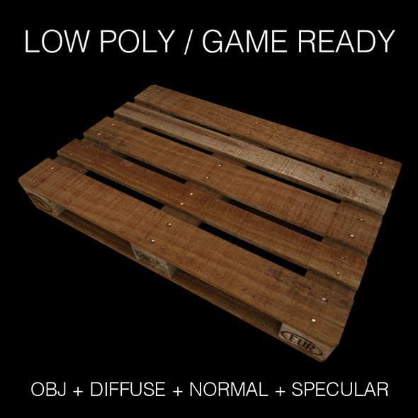 Wooden pallet (europalette) - 3DOcean Item for Sale