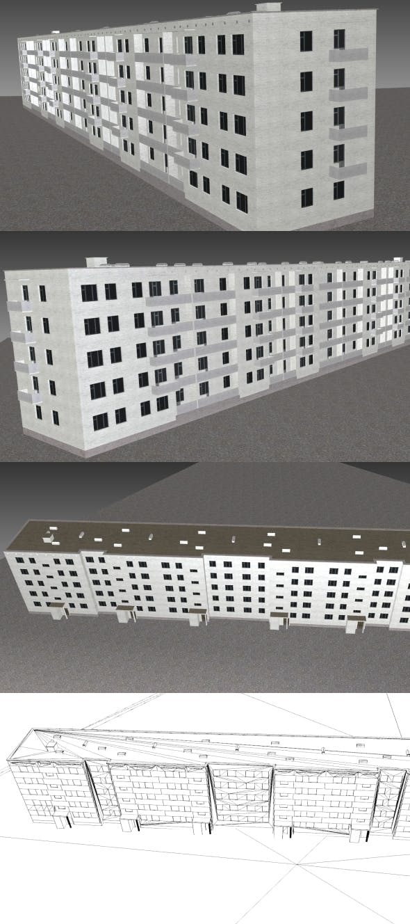 Low Poly Building 3 for game - 3DOcean Item for Sale