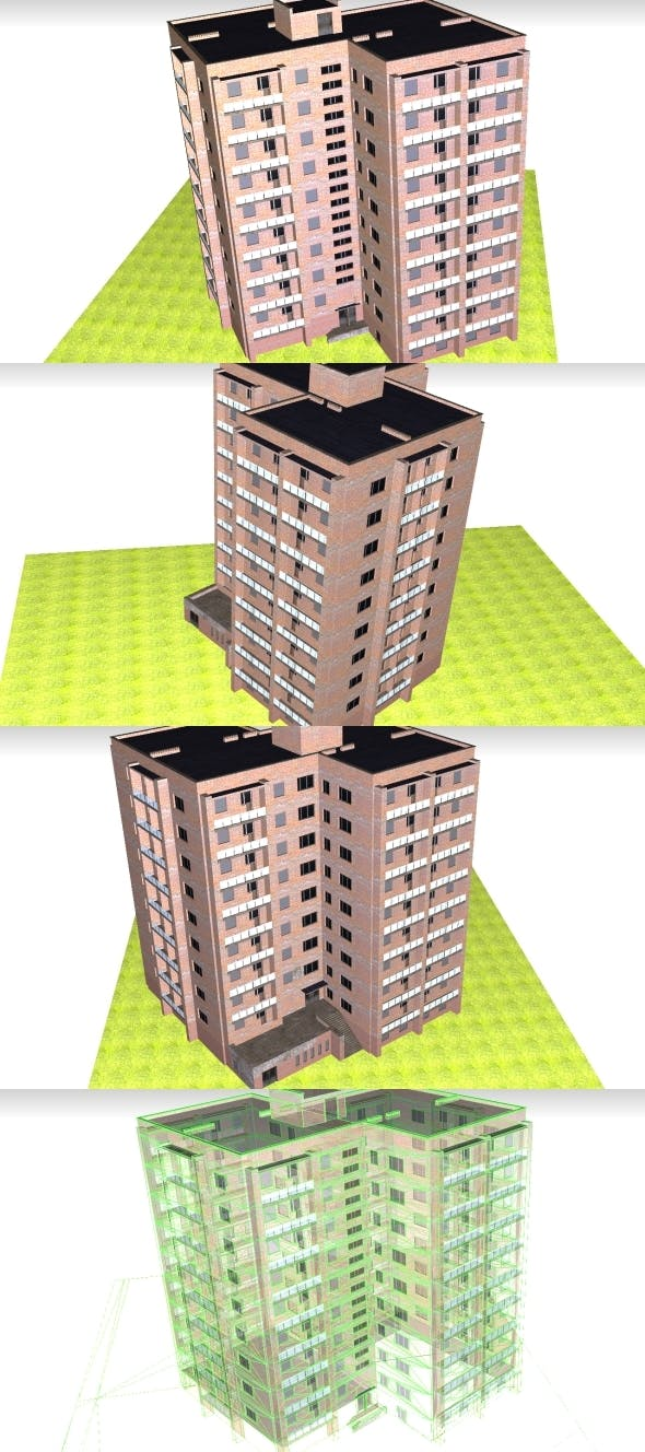 Low Poly Building 4 for game - 3DOcean Item for Sale