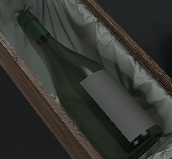 Wine bottle & box - 3DOcean Item for Sale