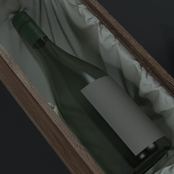Wine bottle & box