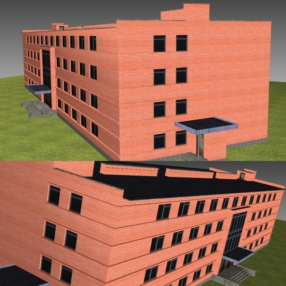 Low Poly Building 6 for game