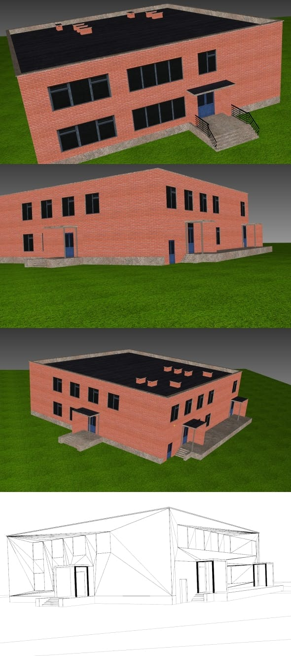 Low Poly Building 8 for game - 3DOcean Item for Sale