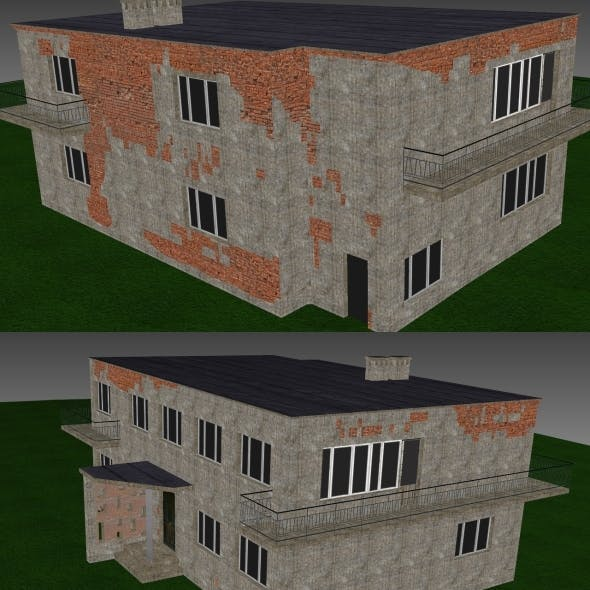 Low Poly Building 9 for game