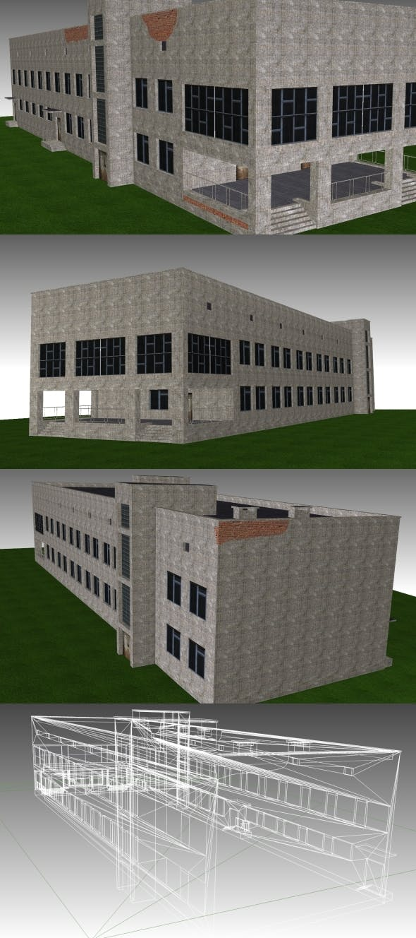 Low Poly Building 10 for game - 3DOcean Item for Sale