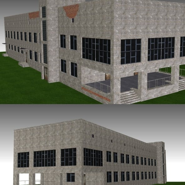 Low Poly Building 10 for game
