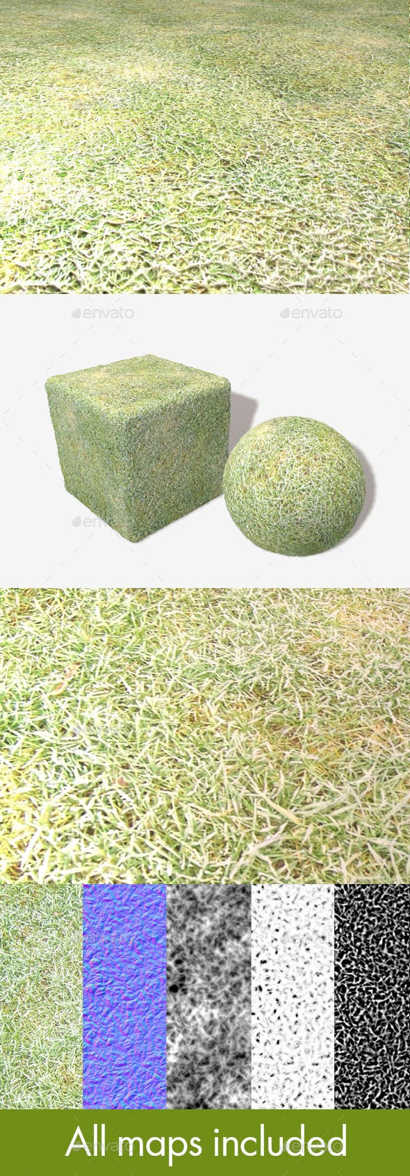 Grass Frost Seamless Texture - 3DOcean Item for Sale