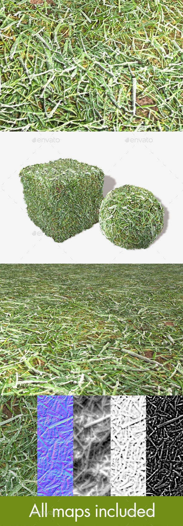 Grass Frost Close Seamless Texture - 3DOcean Item for Sale
