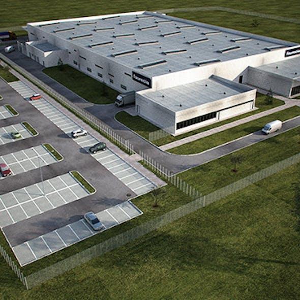 Industrial Building Full Scene (Render Ready)