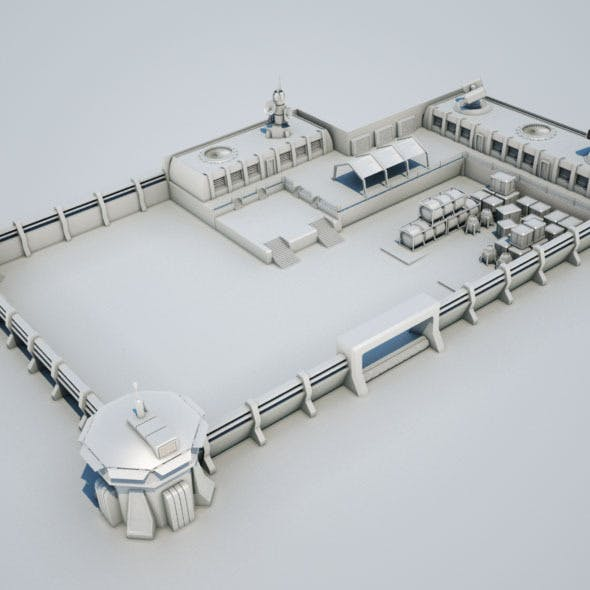 Scifi military base02 - 3DOcean Item for Sale