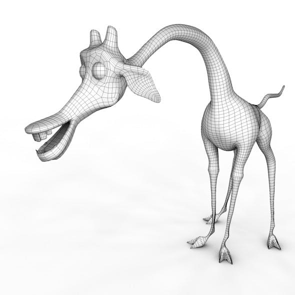 Giraffe Melman low poly