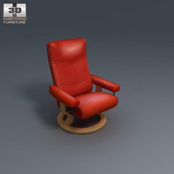 Alpha Large Chair - Ekornes Stressless - 3D Model.