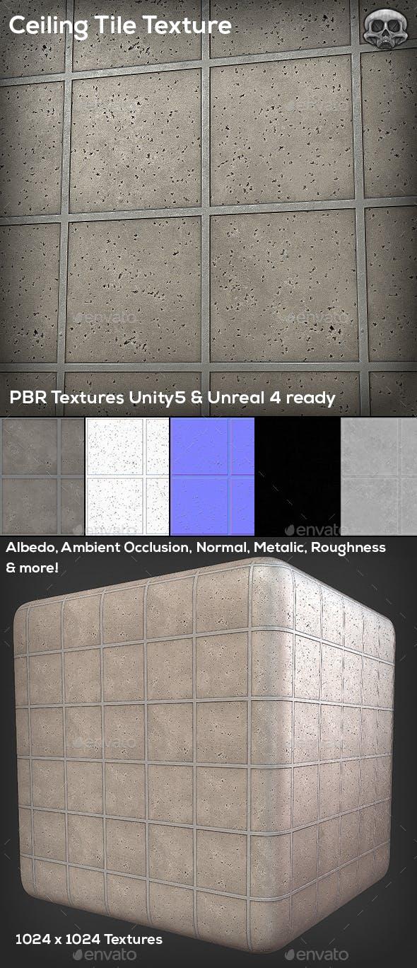 Ceiling Tile Texture - 3DOcean Item for Sale
