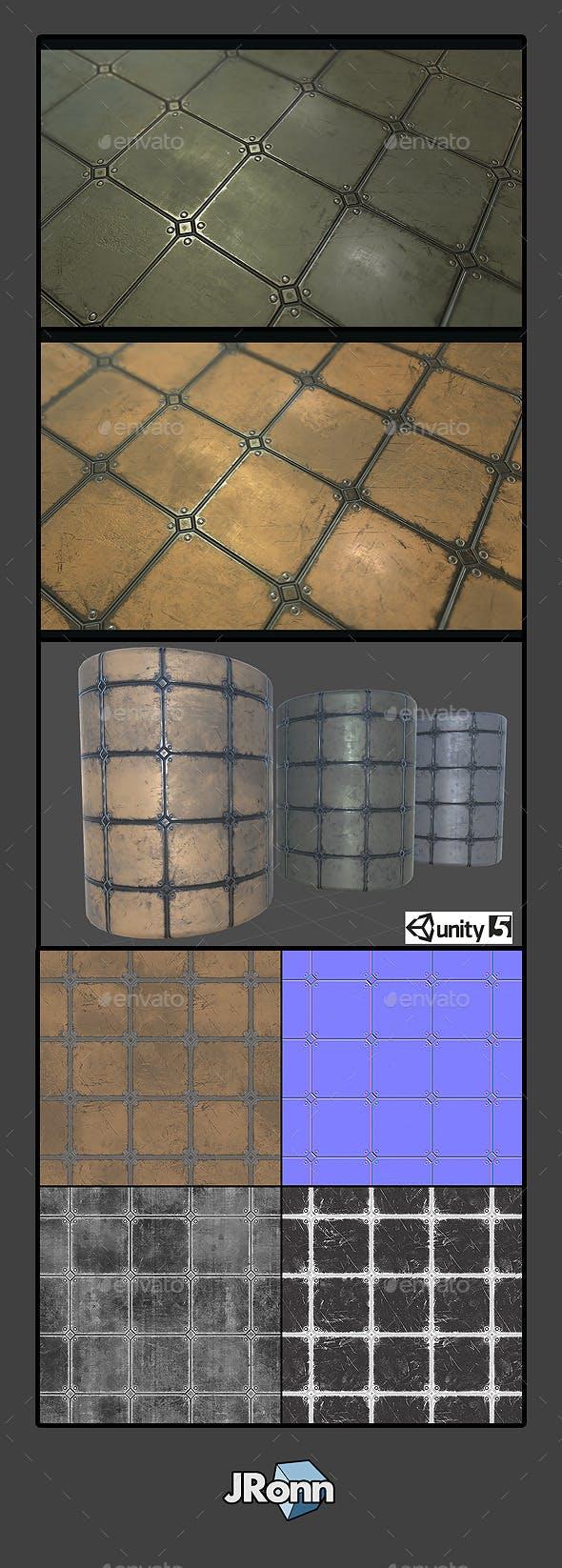 Metal Plate Tile 03 - 3DOcean Item for Sale