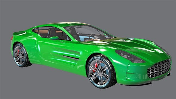 Element 3D Exotic Coupe 3D Model - 3DOcean Item for Sale