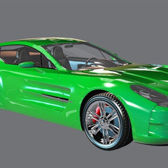Element 3D Exotic Coupe 3D Model