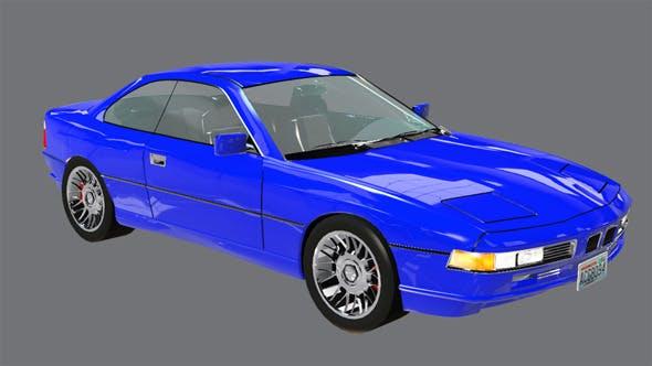 Element 3D Luxury Coupe 3D Car Model - 3DOcean Item for Sale