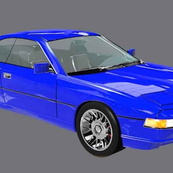 Element 3D Luxury Coupe 3D Car Model
