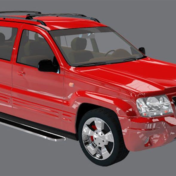 Element 3D Red Suv 3D Car Model