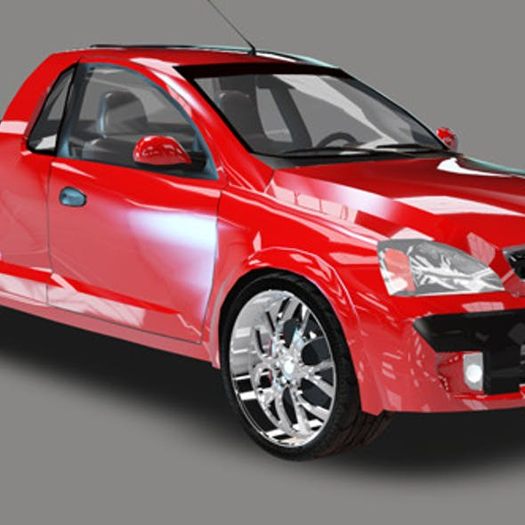 Element 3D Sport Pick Up 3D Model