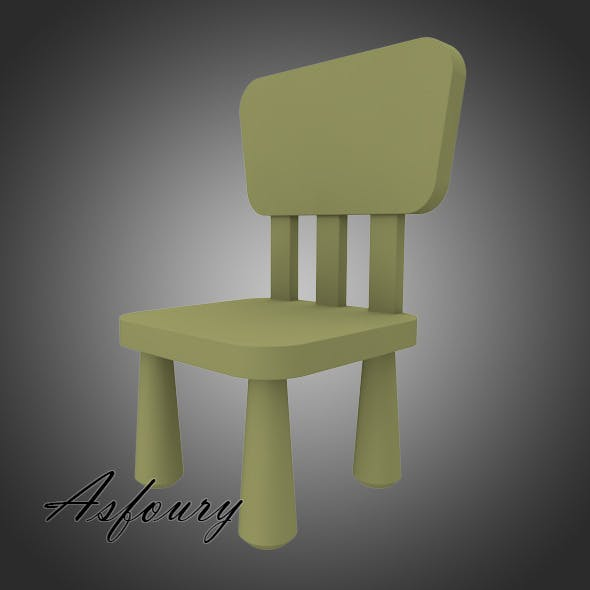 Mammut Children's Chair - 3DOcean Item for Sale