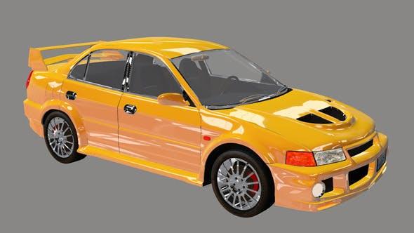 Element 3D Sport Sedan 3D Car Model - 3DOcean Item for Sale