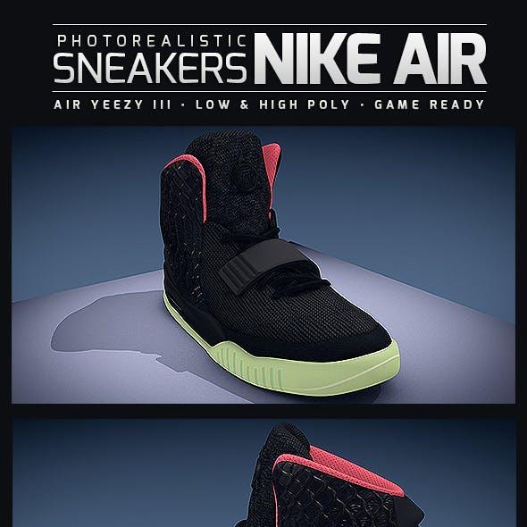 Sneakers Nike Air Yeezy III - Photorealistic