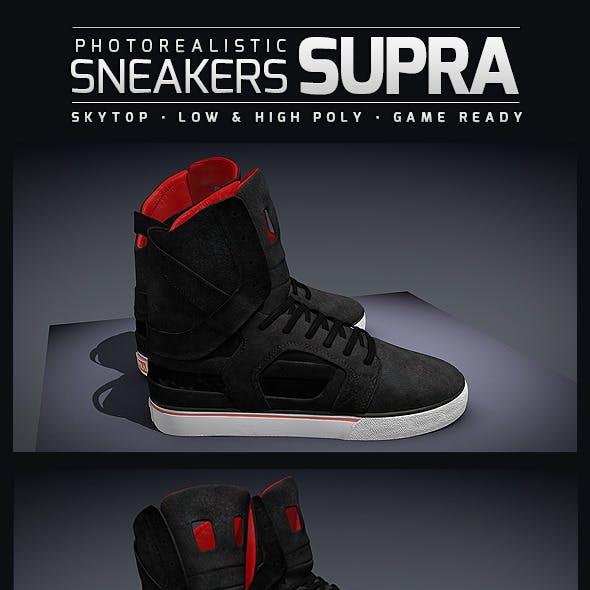 Sneakers Supra SkyTop II - Photorealistic