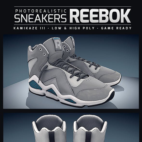 Sneakers Reebok Kamikaze - Photorealistic