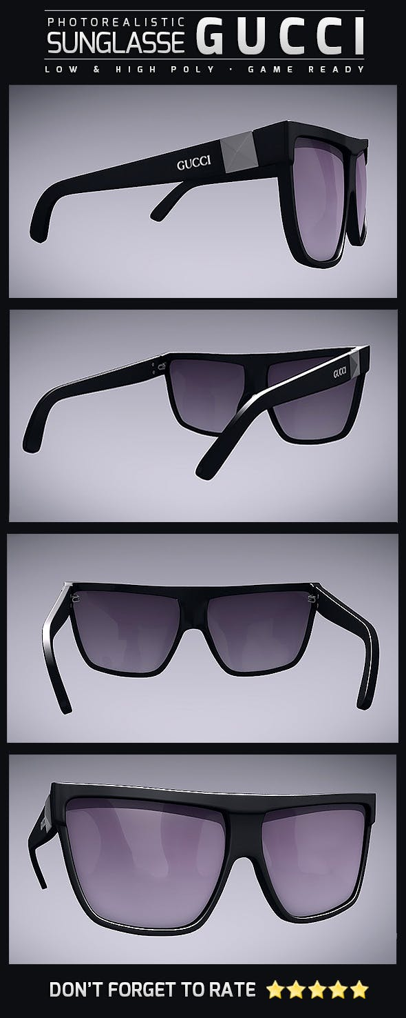 Sunglasse Gucci - 3DOcean Item for Sale