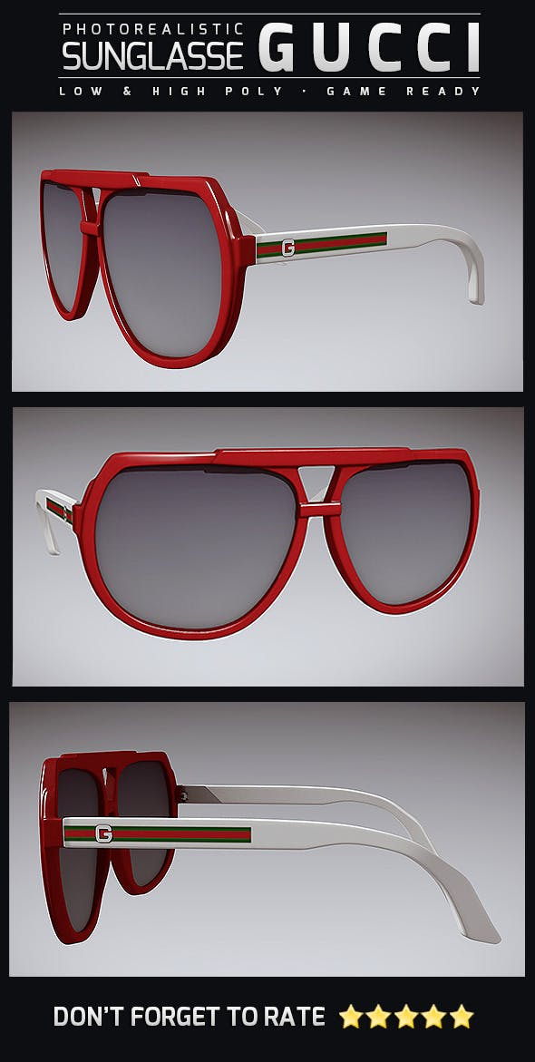Sunglasse Gucci 02 - 3DOcean Item for Sale