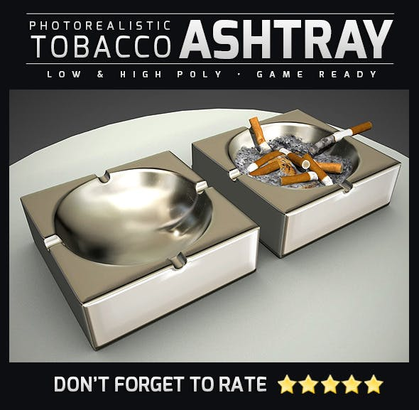 Quality Ashtray - 3DOcean Item for Sale