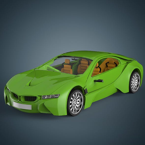 Sports car - 3DOcean Item for Sale
