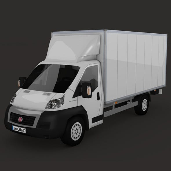 LOW POLY FIAT DUCATO BOX