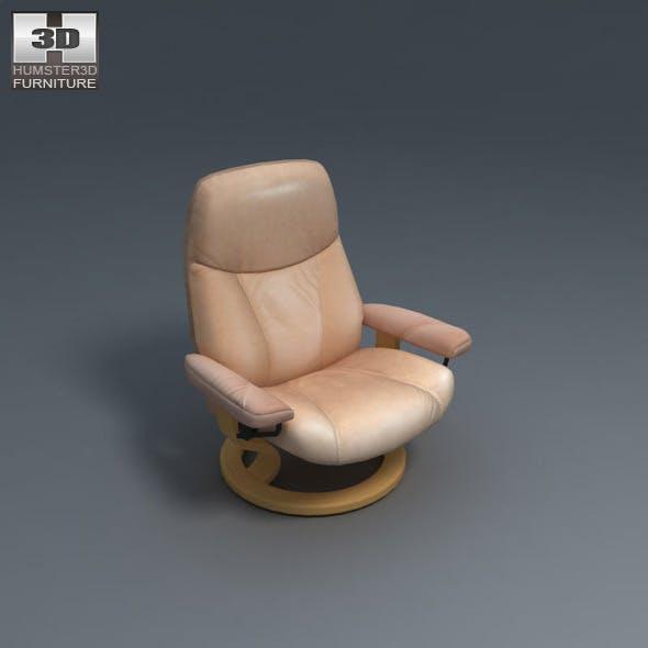 Ambassador Chair - Ekornes Stressless - 3D Model.