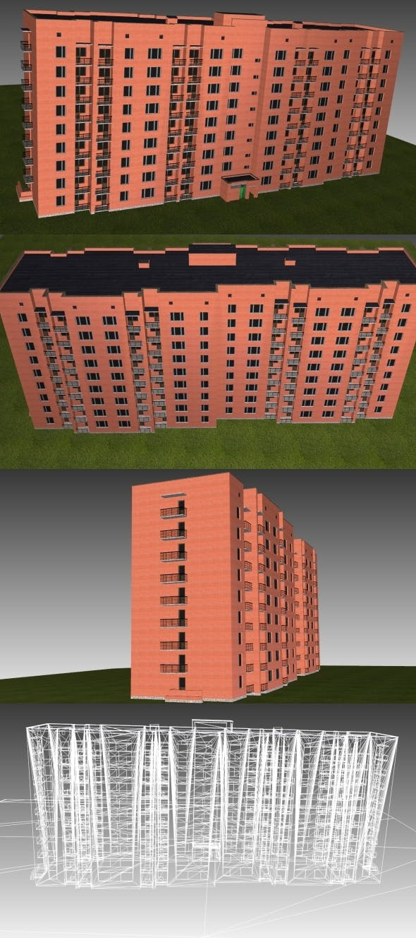 Low Poly Building 2 for game - 3DOcean Item for Sale