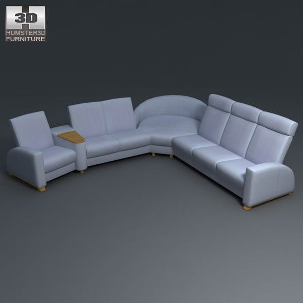 Arion sofa SET - Ekornes Stressless - 3D Model.  - 3DOcean Item for Sale